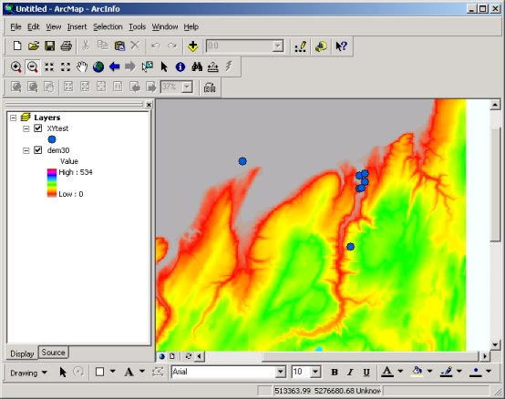 SAL - Software - Arcgis - Adding data from XY tables